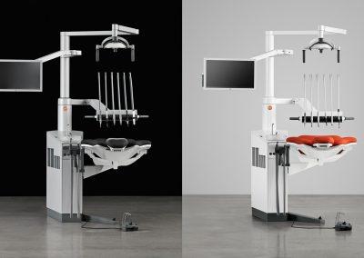 small-dental-unit-xo4-danish-design-red-upholstery-black-dental-office
